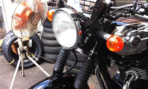他店購入のバイクでもOK!カワサキ車なら車検、修理、点検受け付けます。